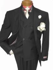 men's Single Breasted Notch Lapel Medium Grey Two Button Suit