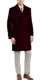 Breasted Three Quarter Overcoat