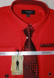 Red Dress Shirts with