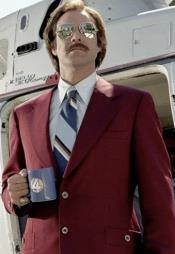 Light Burgundy Vested Suit