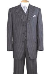 Button Suit - Vested