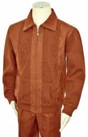 Bagazio Cognac Microsuede Sweater
