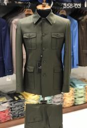 Safari Suit Green With