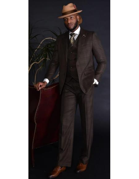 Plaid Suit - Mens