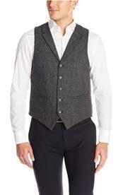 Modern Fit Vest Charcoal