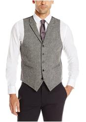 Vest Charcoal Tweed