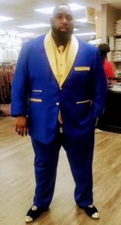 Blue and Gold Lapel