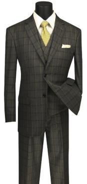 Windowpane Suit 3 Piece