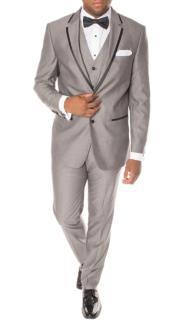 and Black Trim Suit