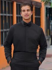 Black Tuxedo Shirt Laydown