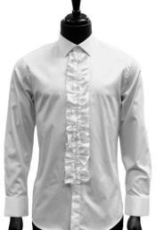Classic Ruffle Tuxedo Shirt