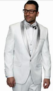 and Silver Lapel Tuxedo