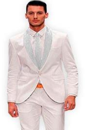 White and Silver Lapel