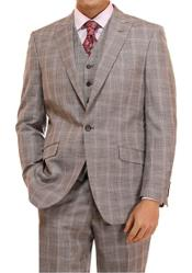 Suit 3 Piece Plaid