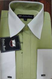 Riley Collar Green White