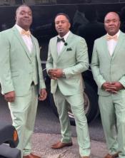 Light Green Vested Suit - Vested Suit - Mens Sage Green Suit - Mint Green Suit