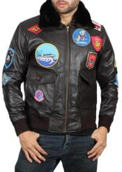 Gun Leather Bomber Jacket
