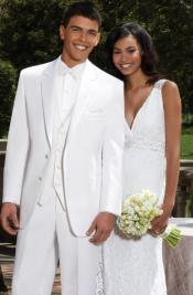 Quinceanera White Color Tuxedo