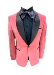 Lapel One Button Pink