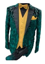 Lapel One Button Green