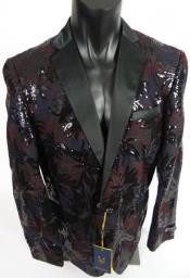 Black Tuxedo - Maroon