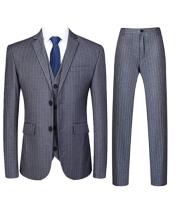 Gangster Pinstripe Vested Suit