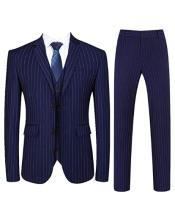 Pinstripe Vested Suit