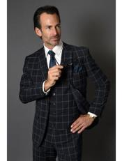 Suit - Black Windowpane