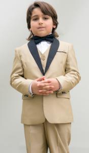 Boys Kids Champage Suit