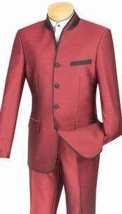 Mandarin Suit Slim Fit