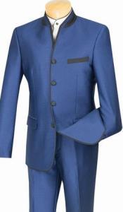 Mandarin Collar Suit Slim