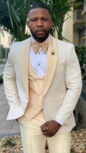 - Mens Cream Suit