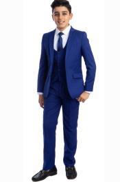 Boys Suit - Royal