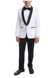 Boys White Kids Suit
