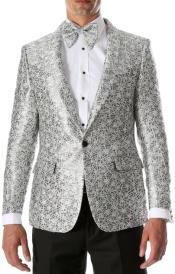 Silver Tuxedo - White