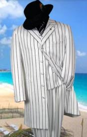 Black Pinstripe Suit -