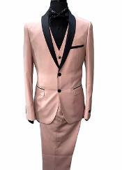 - Pink Tuxedo Vested