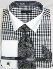 Spread solid Collar Plaid