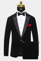Button Black Velvet Tuxedo