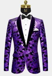 Button Black and Purple