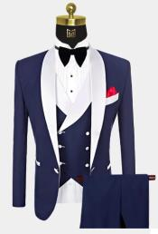 Button Navy Blue and