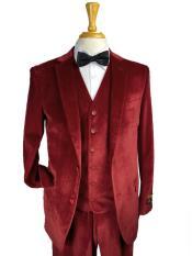 Burgundy Color Suit