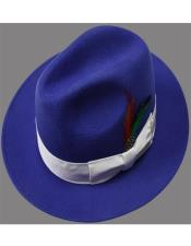 Hats Royal With White
