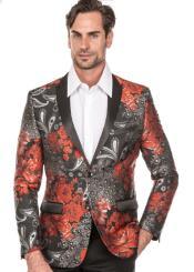 Tuxedo Suit - Floral