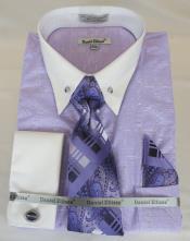 Shirt Point Collar Purple