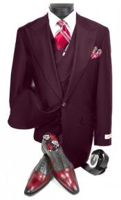 Burgundy Suit - Double