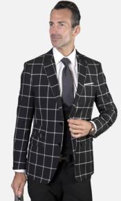 Single Breast Suit Onyx