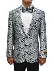 and Black Tuxedo Suit