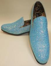 Blue Glitter Formal Slip