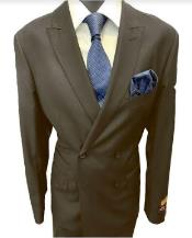 Breasted Peak Lapel Charcoal